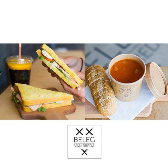 Lunch Combideal Soep Sandwich