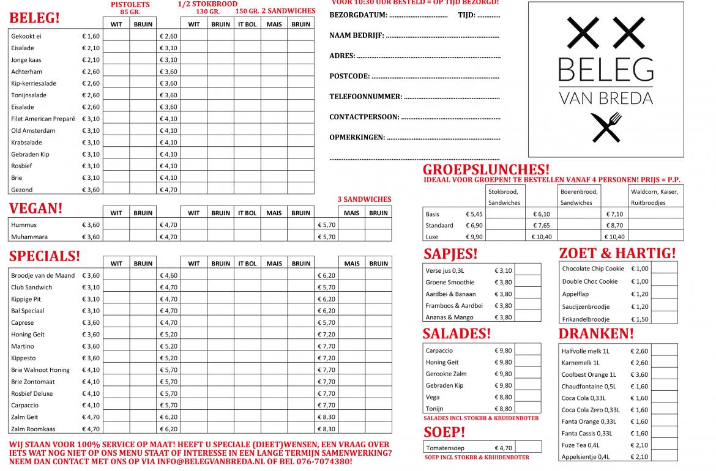 Download Bestellijst Menu Beleg van Breda